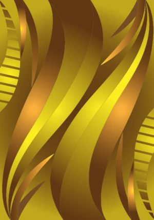 HD-075 Golden Yellow Line 3D Stretch Ceiling Film for Ceiling Decoration