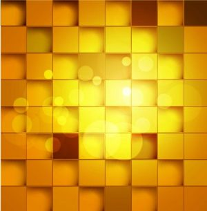 HD-112 Golden Yellow Diamond Square 3D Stretch Ceiling Film for Ceiling Decoration